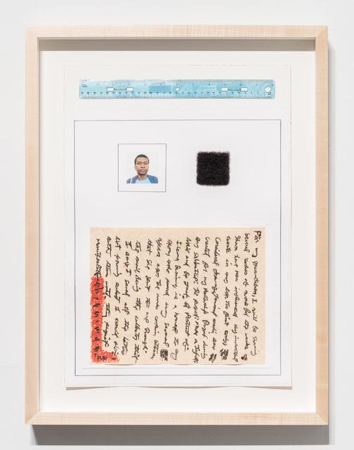 20 x 14 1/4 x 3/4''; Artist's Hair, Ruler, Wire, Pencil, Pen, Ink, Photograph, Marker, Glue, Paper; 2018