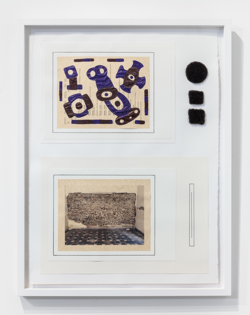 30 x 22 1/2 x 1''; Artist's Hair, Photograph, Pen, Pencil, Glue, Paper; 2018