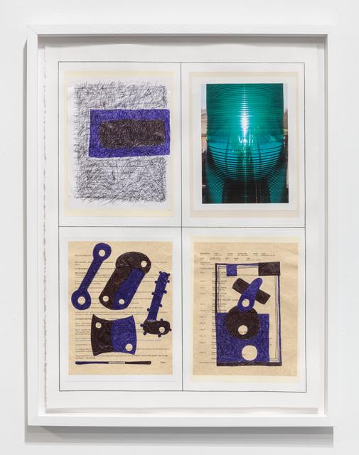 30 x 22 1/2''; Pen, Pencil, Ink, Paper, Photograph, Glue; 2018