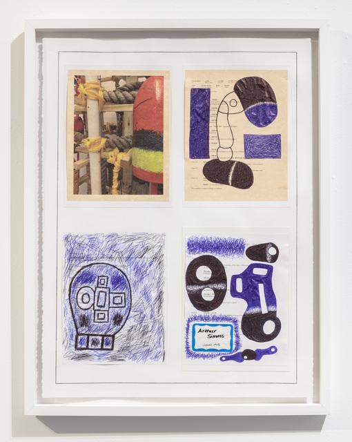 30 x 22 1/2''; Photograph, Pen, Pencil, Marker, Glue, Paper; 2018