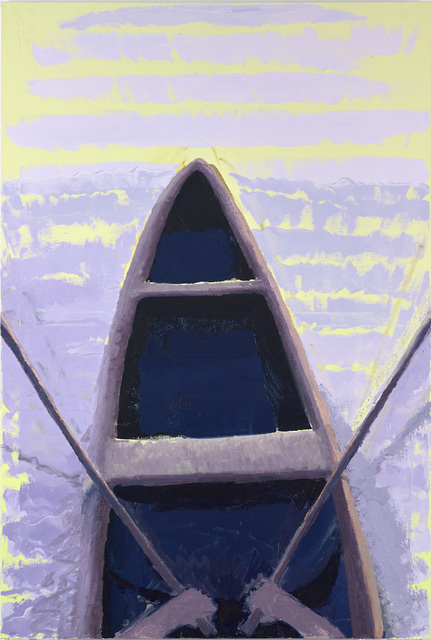 Boat, 72 x 48 in, oil on canvas, 2019