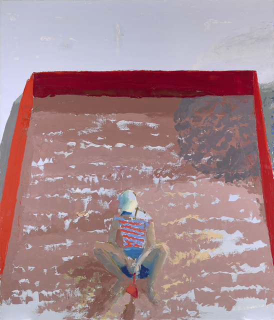 Sandbox, 84 x 72 in, oil on canvas, 2018