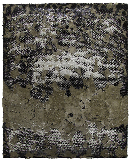 The Fog After the Storm, 20x16 inches, Cement and lace, 2020