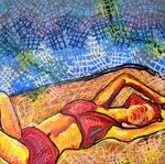 Reclinging_in_bed_24x24_