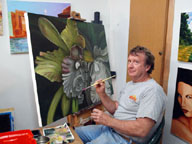 Jon paints an orchid