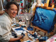 Nicole paintings dolphins