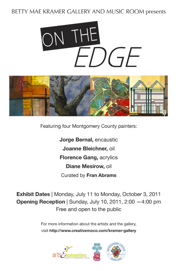 Betty Mae Kramer Gallery and Music Room presents On The Edge Exhibit Flyer