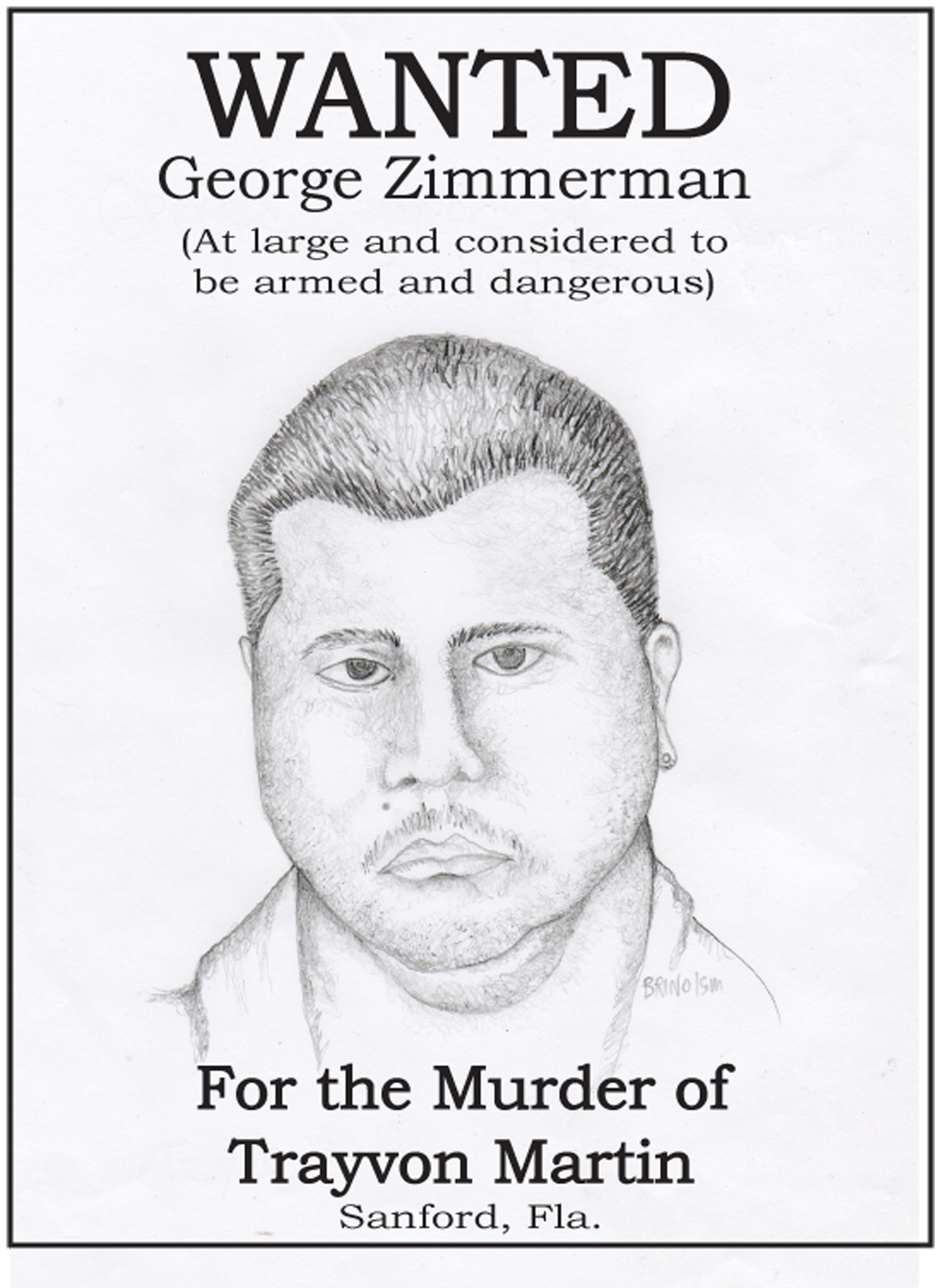 Wanted Poster for Killer of Trayvon Martin – Real Wanted Poster