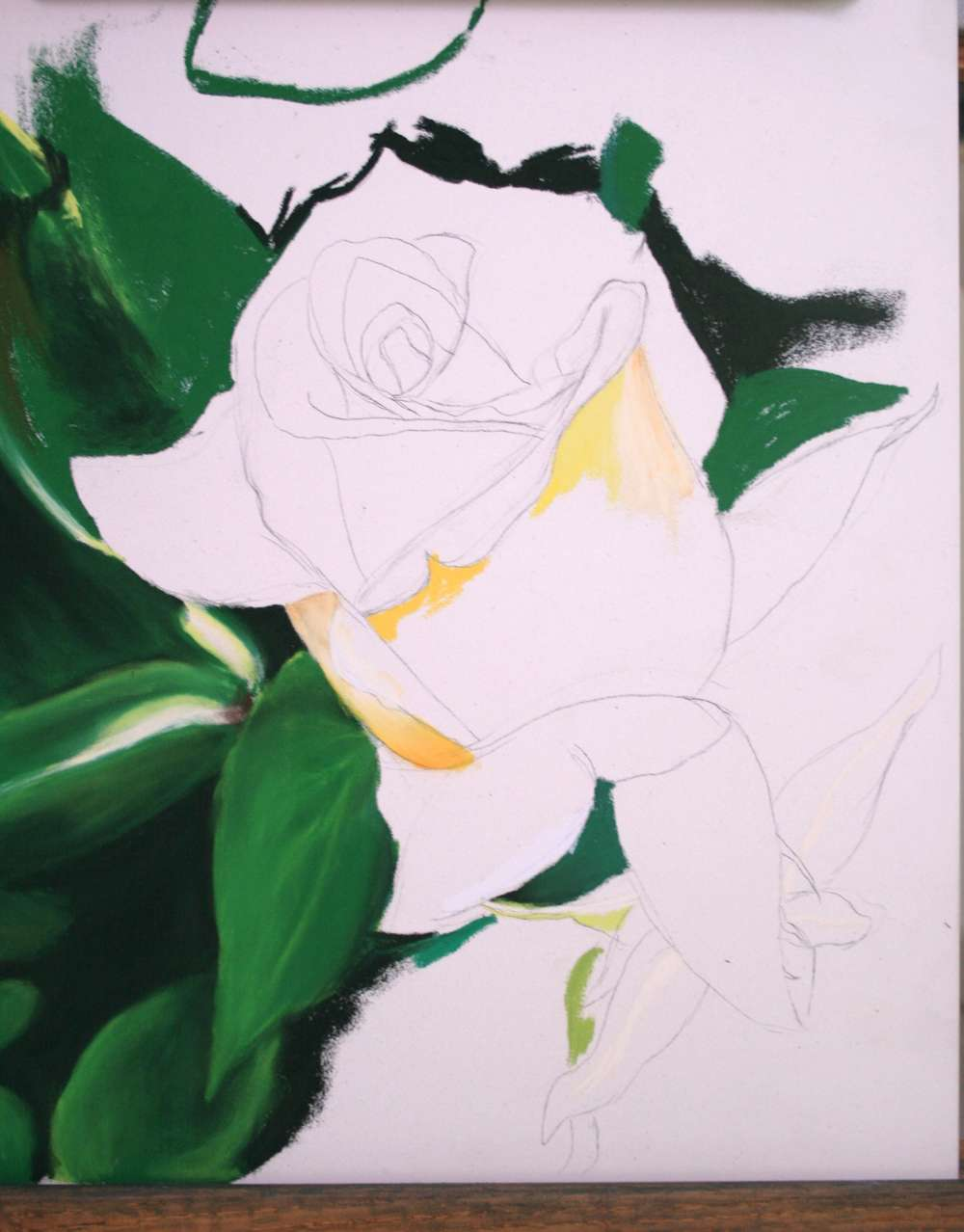 Yellow Rose Step 1