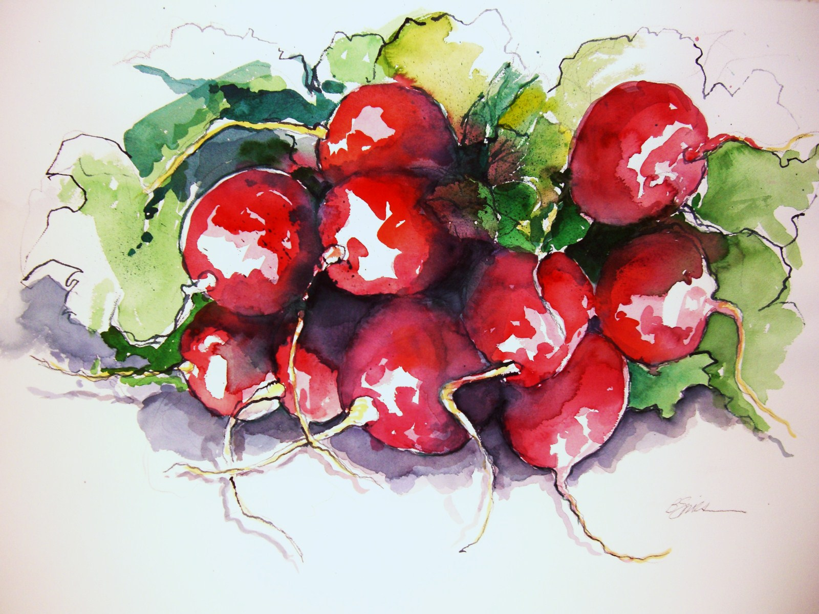 Farmer's Market Series, watercolor