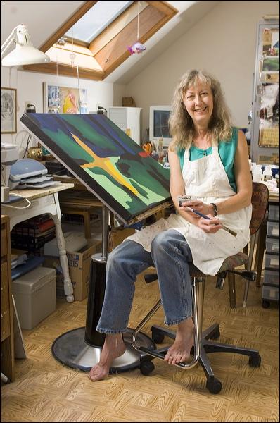 artist Beth Stafford, studio, painter, Mosaic Series
