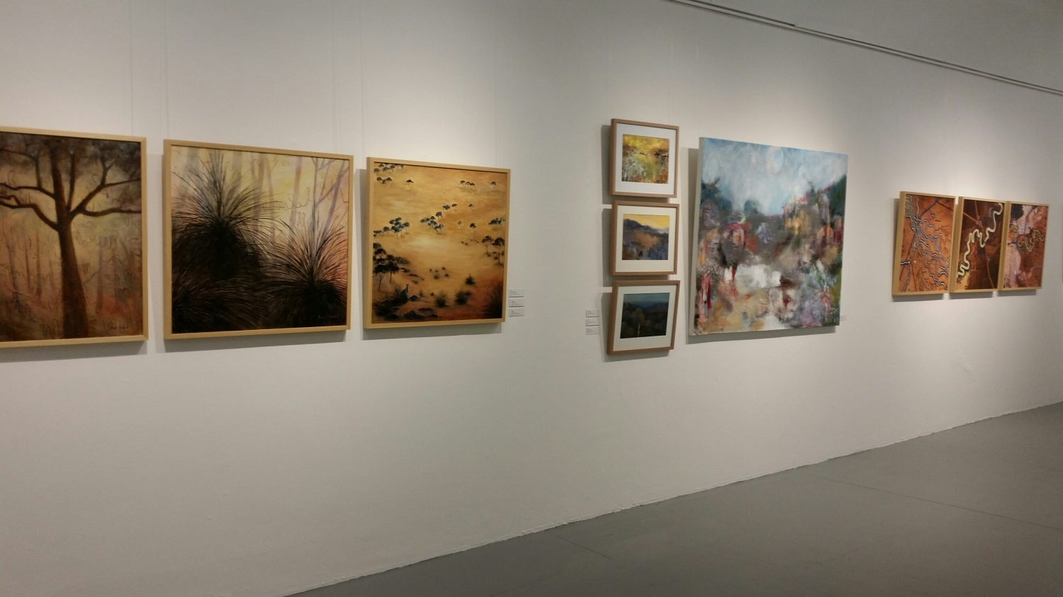 Artworks by Barb Strand and Meg Sprouster (side wall)