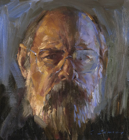 Self Portrait, oil on linen