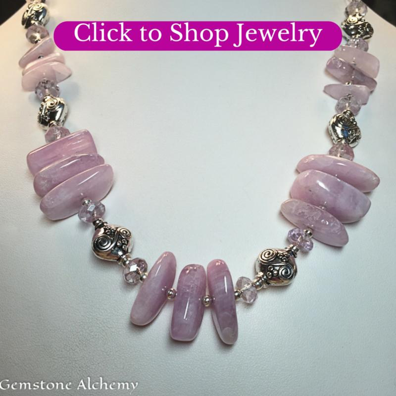 Kunzite necklace empowered gemstones