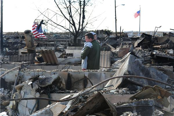 Aftermath of Hurricane Sandy NY