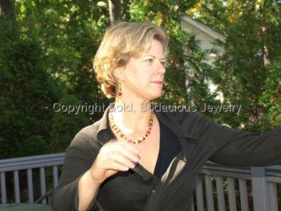 Shannon Jackson Arnold in Gemstone Alchemy necklace