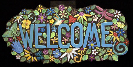 welcome sign home page