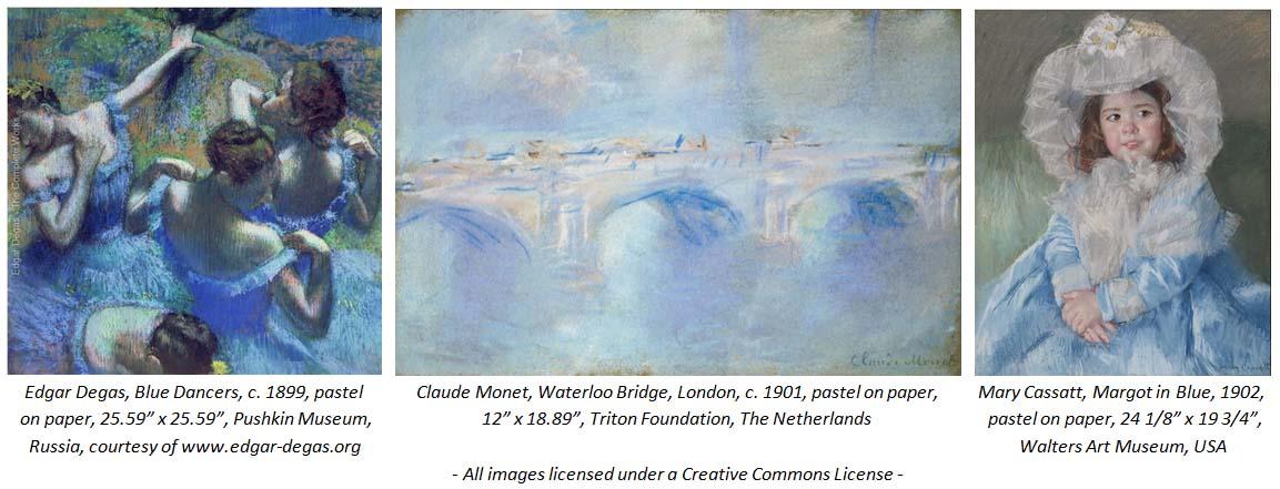 Edgar Degas, Blue Dancers and Claude Monet, Waterloo Bridge, London and Mary Cassatt, Margot in Blue