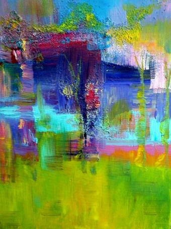 Acrylic abstract original art by Claire Bull