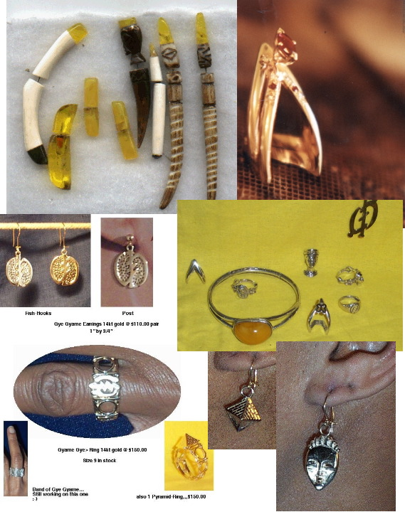 Ear Plugs,Friendship Rings,Chesspieces,Adinkra Symbols