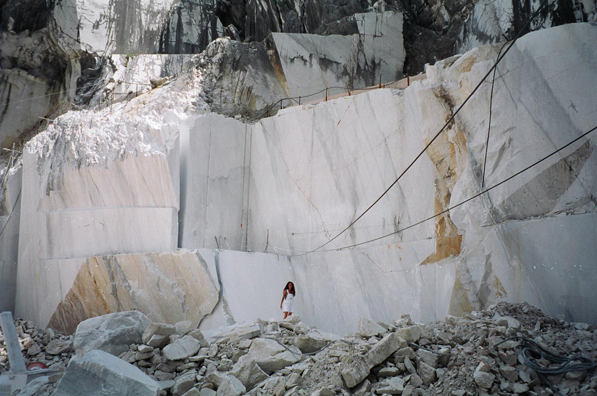 Marble quarry at Mount Altisimo, Carrarra, Italy