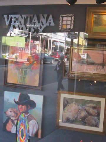 Debbie Harding paintings in the Ventana Gallery