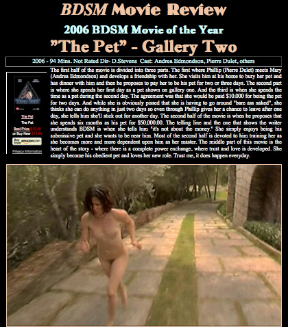 The Pet - Best Movie of Year 2006 Two