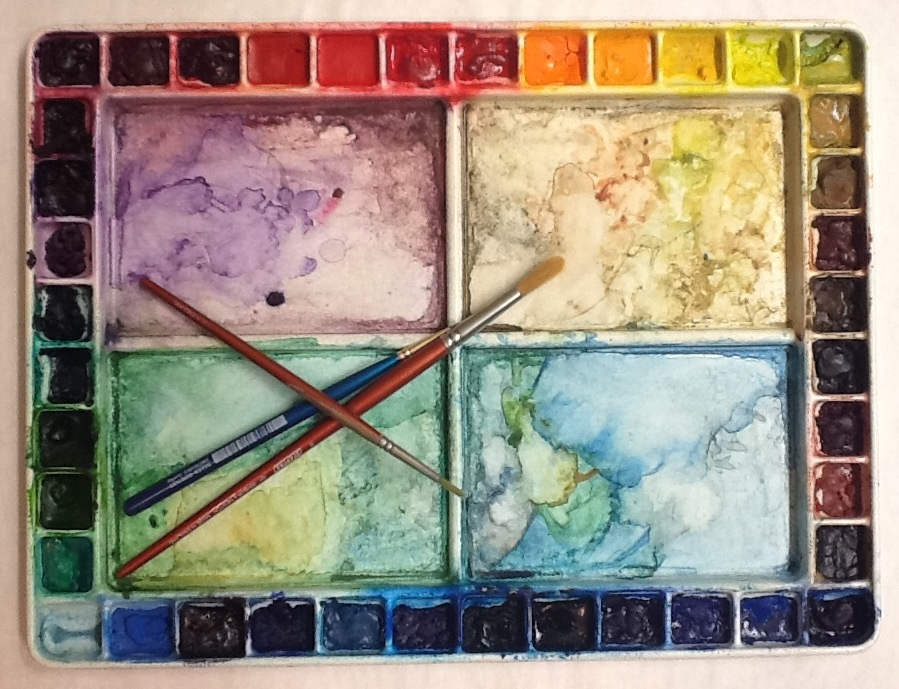 how to clean watercolor palette