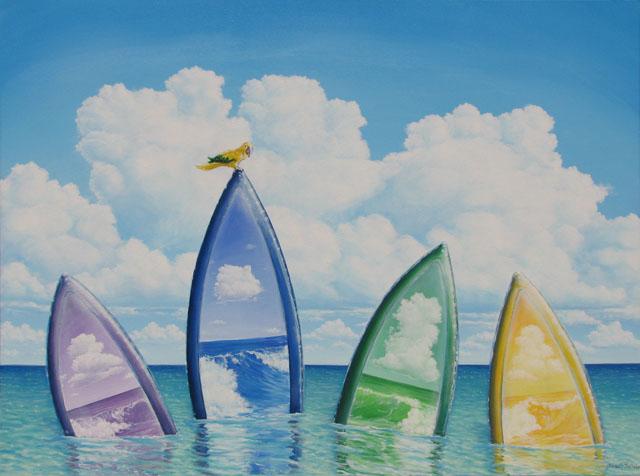 Acrylic on gallery wrap canvas
