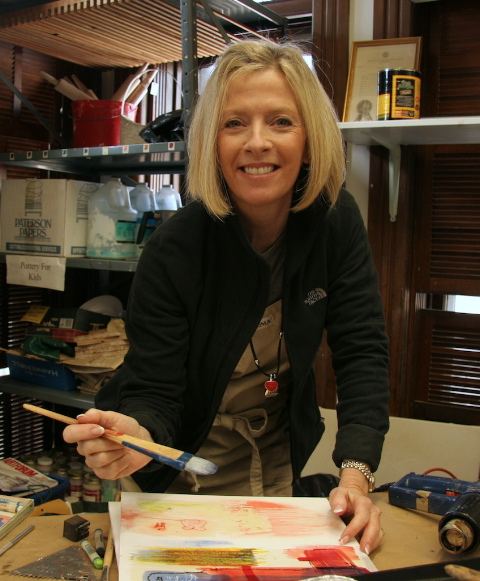 teaching encaustic workshop