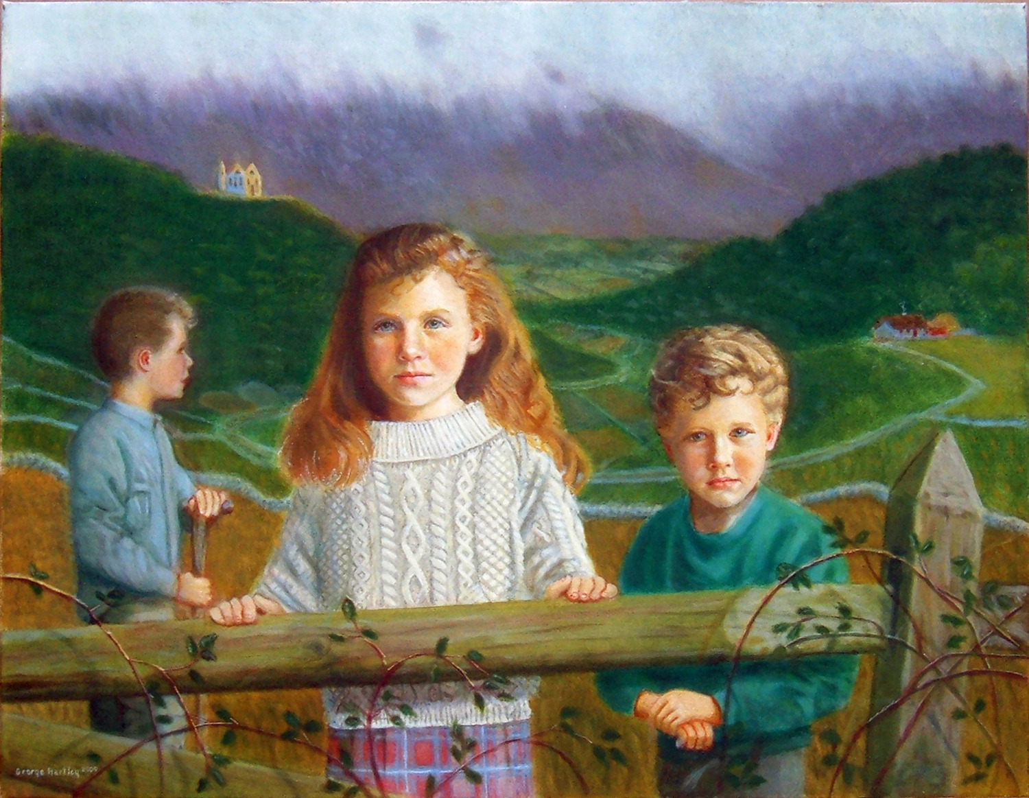 Three Children in an Irish Setting