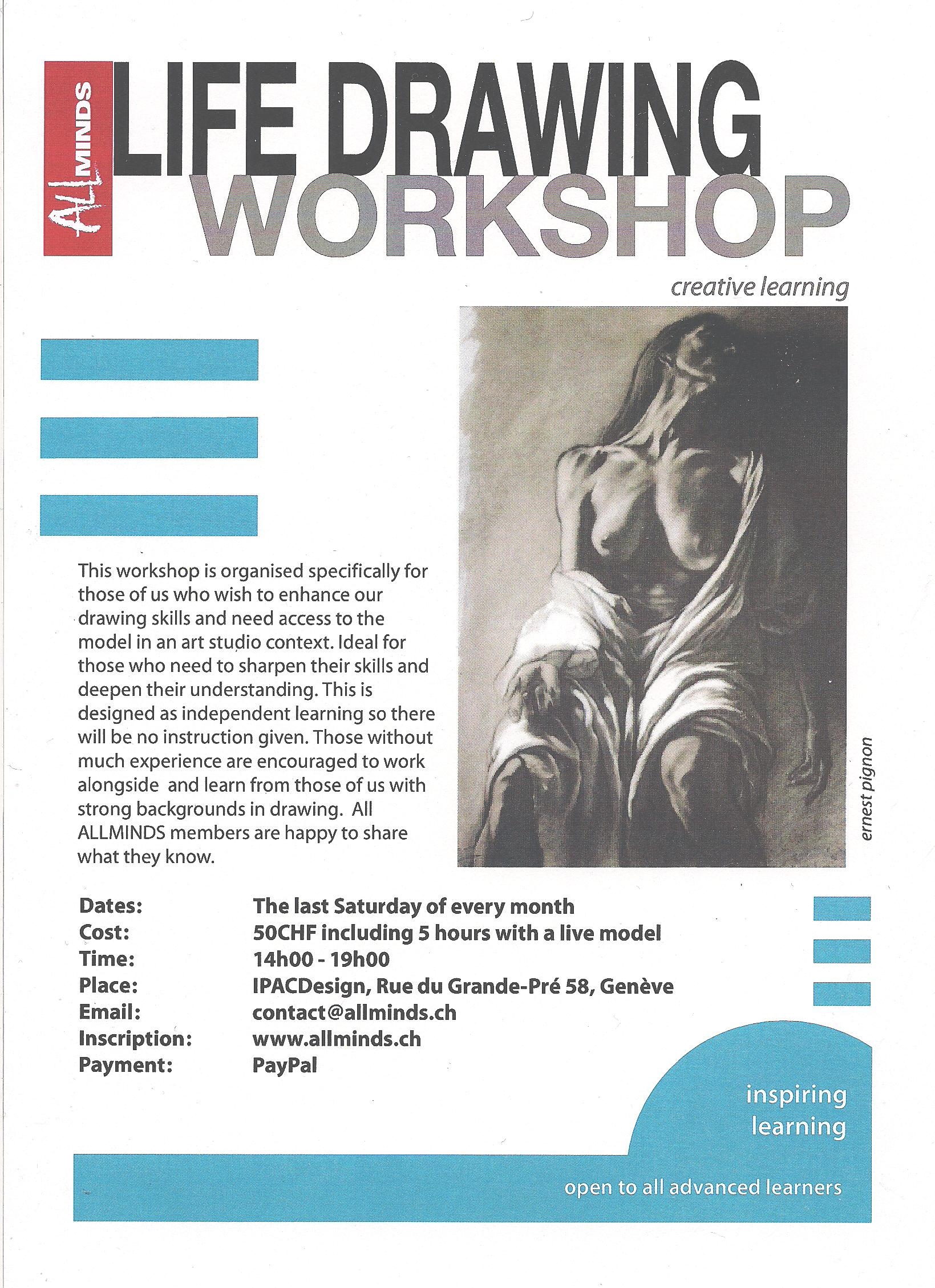 Life Drawing Course Brochure