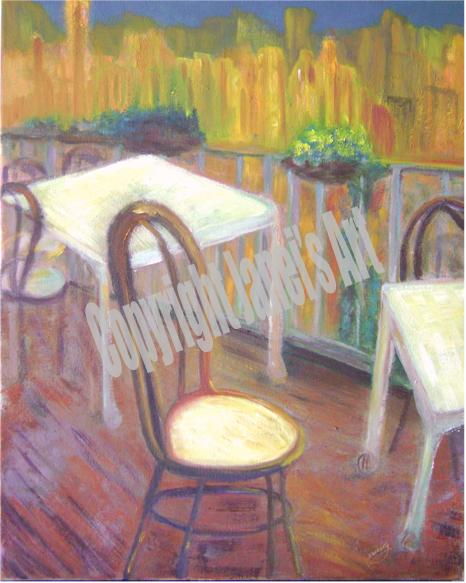 Painting Bistro Morning by Janei wCopyright