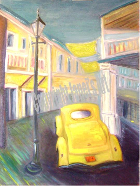 Painting COUPE DE VILLE by Janei Folz w/Copyright