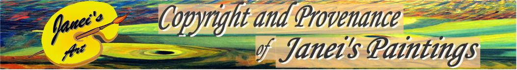 Janei's Art - Copyright & Provenance Masthead