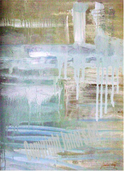 Painting Recollections of a Pond by Janei Folz w/Copyright