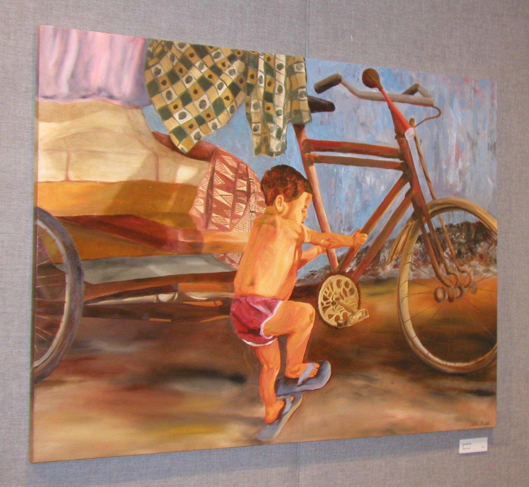 Calcutta Boy. oil on canvas, 36 x 48 inches. 2005