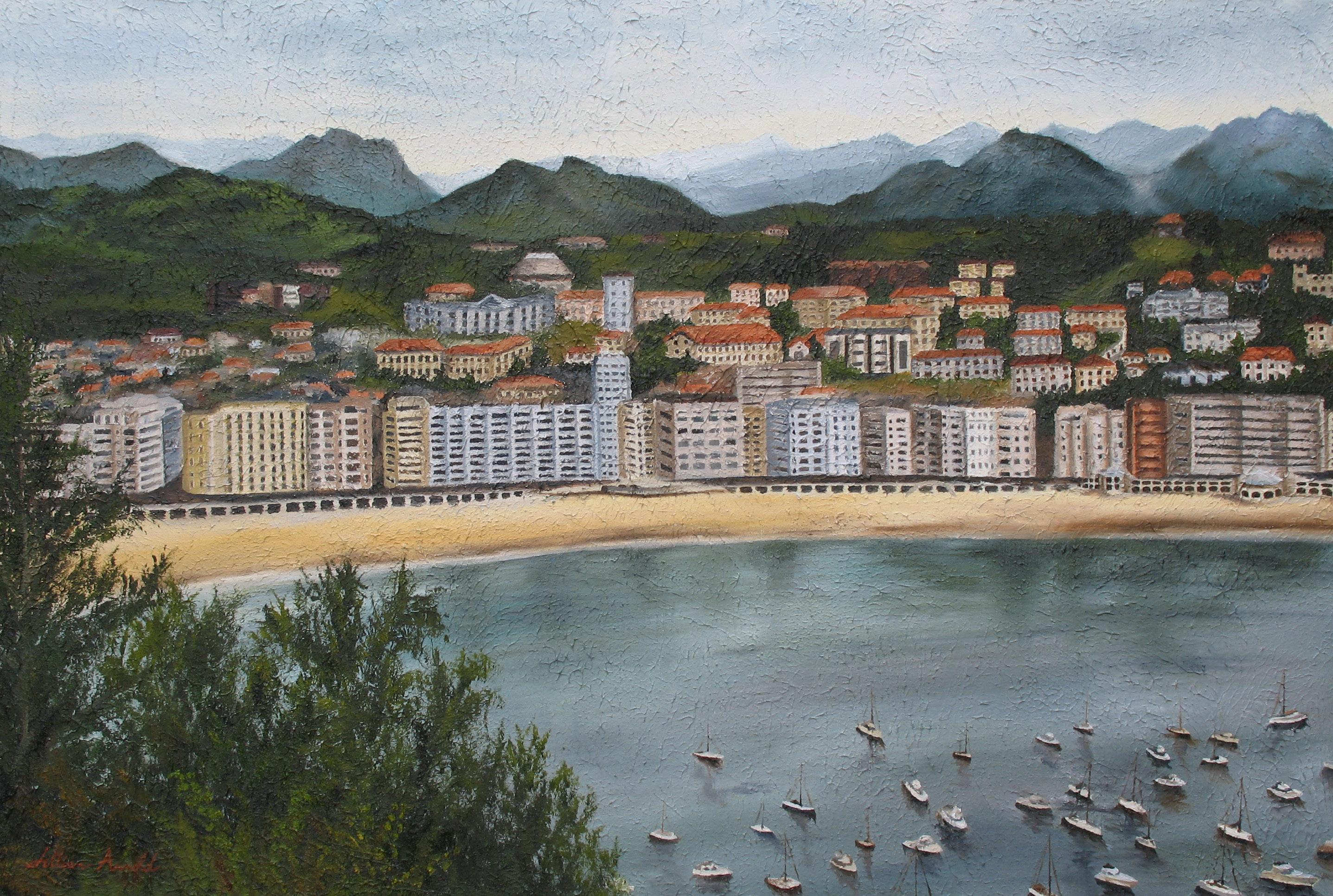 San Sabastian, Spain. oil on canvas, 24 x 36 inches. 2006