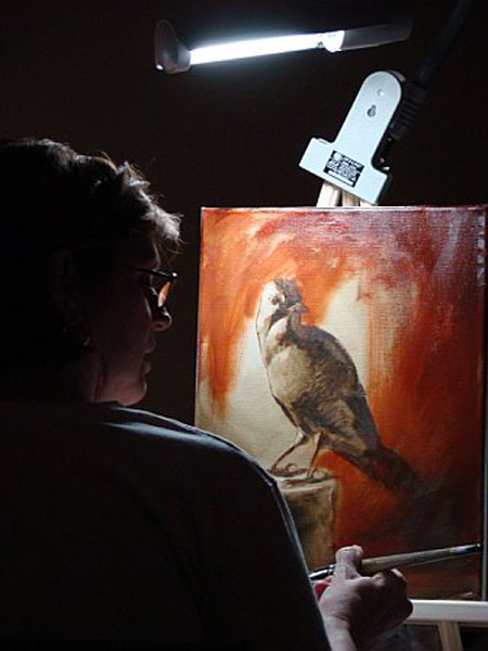 Painting over the imprimatura