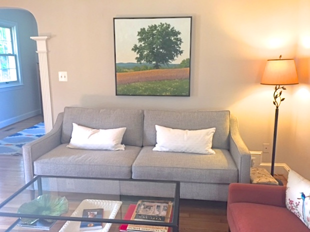 """36""""x36"""" in client's home"""