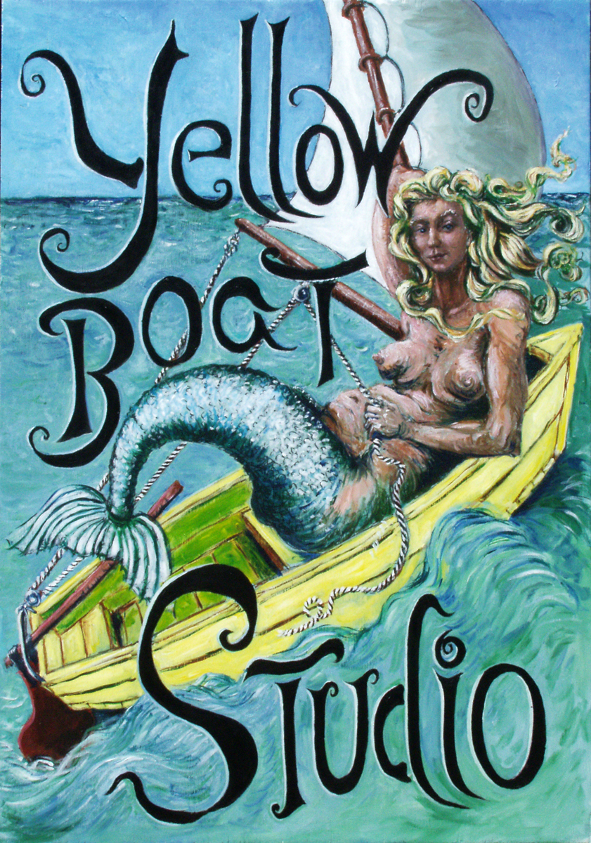 Yellow Boat Studio Sign