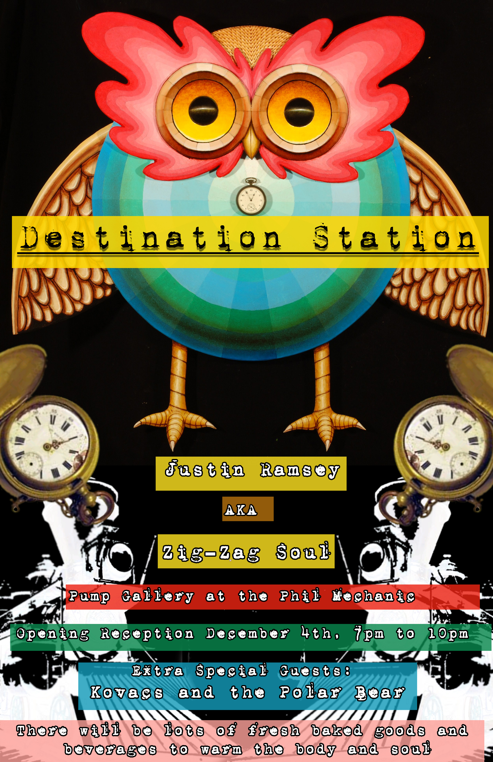 Destination Station Flyer Zig-Zag Solo Show 2010 Pump Gallery at Phil Mechanic