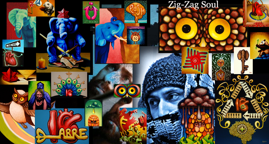 Zig-Zag Soul Art Collage
