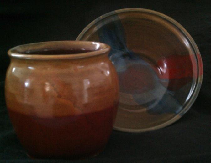 Vase, bowl