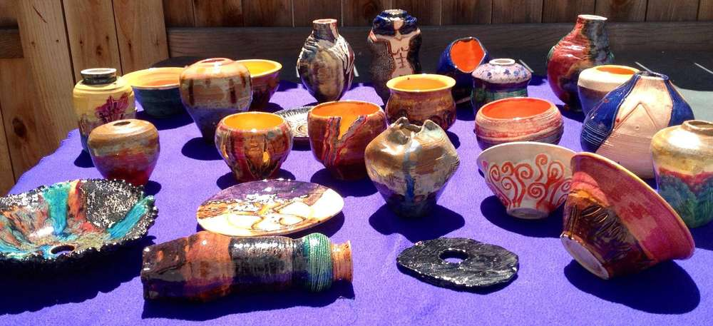 Glazed thrown pots