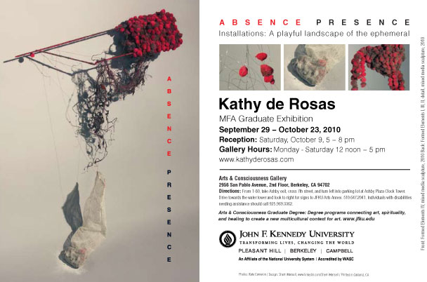 Kathy deRosas, Absence Presence MFA Exhibition