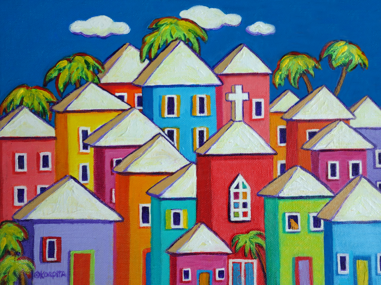 colorful coastal art of rebecca korpita