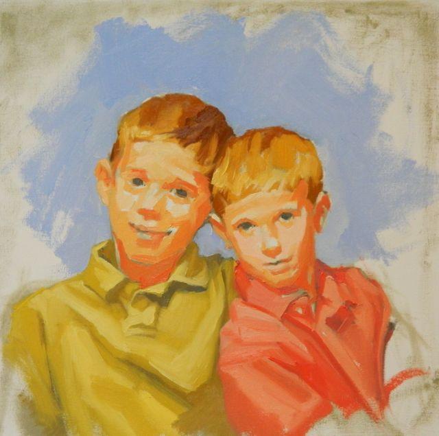 Evolution of Brother's portrait