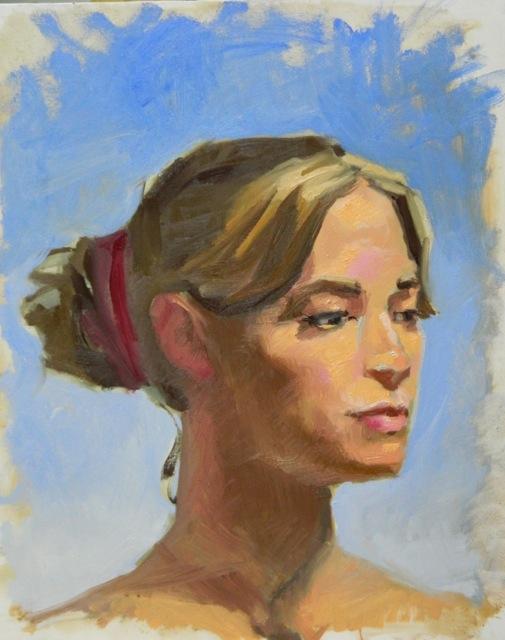 four hour painterly portrait