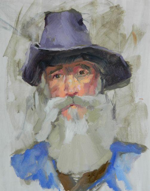 three hour painterly portrait